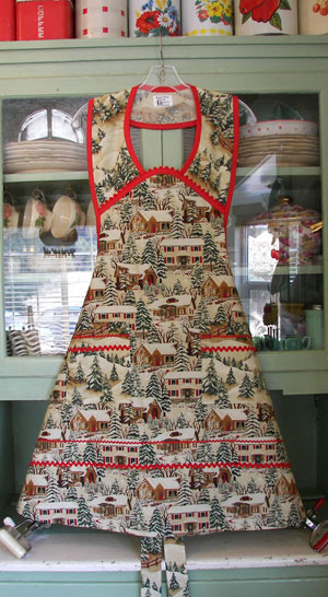 1940 old time Christmas Apron.