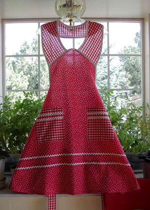 1940 Red Polka Dot Aprons
