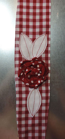 Vintage Hair Wrap Red Gingham / Red Polka Dot
