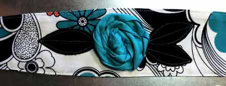 Wild Blue Vintage Hair Wrap