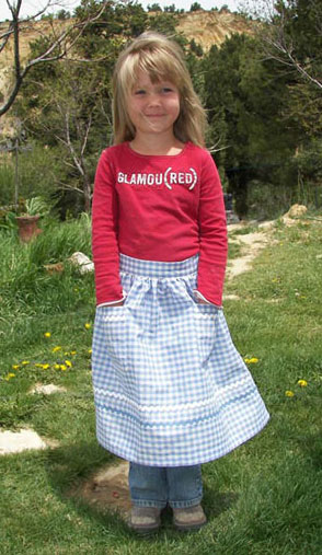 Blue Gingham Retro Half Aprons