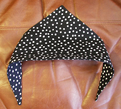 Cat or Dog Scarf Black Polka Dot