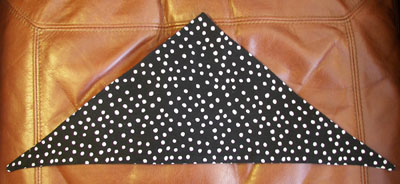 Dog or Cat Scarf in Black Polka Dot