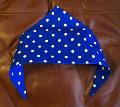 Cat or dog scarf blue polka dot