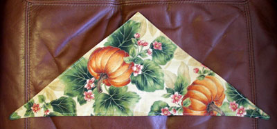 Cat or Dog scarf Harvest Gold Pumpkin