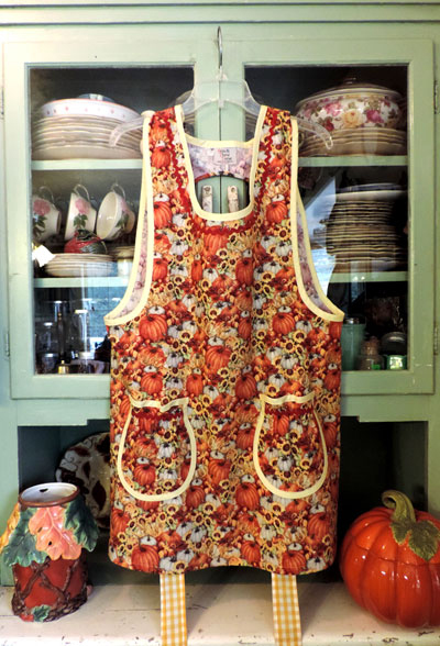 Grandma Old Fashioned Pumpkins holiday apron.