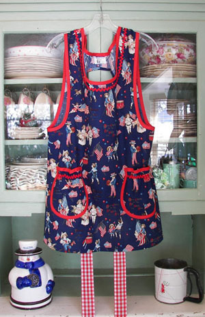 Grandma Old Fashioned USA Apron
