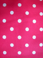 Pink white poka dot