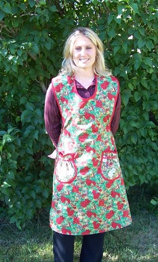 Rose Holiday Rose apron